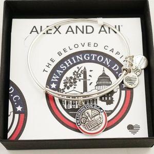 Alex And Ani Washington DC Exclusive Silver Bangle